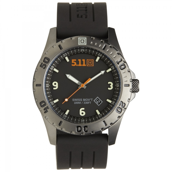 5.11 ЧАСЫ TACTICAL SENTINEL WATCH BLACK/TITANIUM 50133