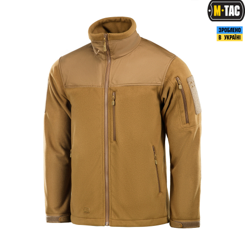 M-TAC КУРТКА ALPHA WINDBLOCK FLEECE COYOTE BROWN