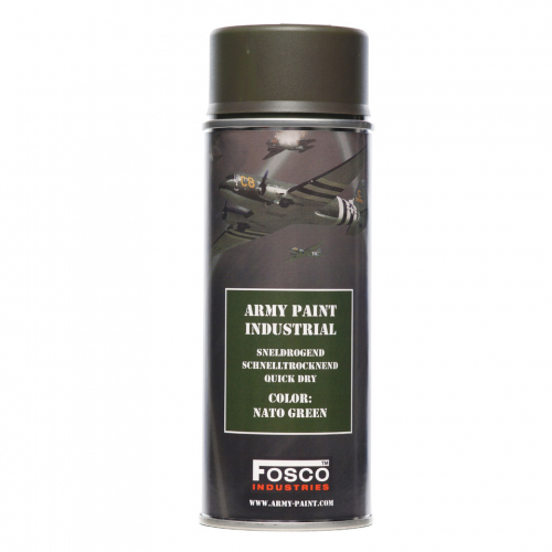 FOSCO PAINT SPRAY ARMY PAINT NATO GREEN 400 ML.