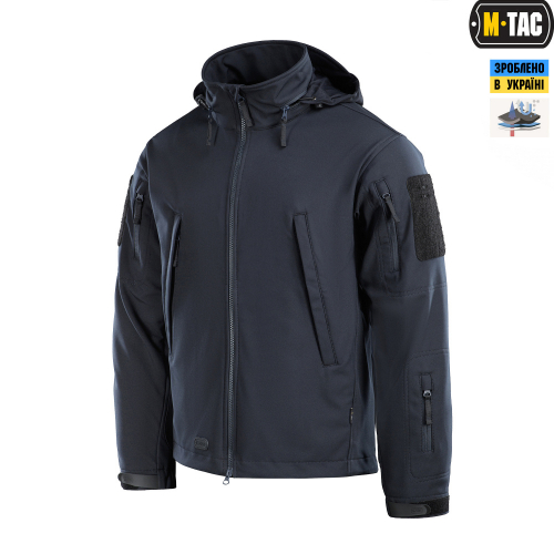 M-TAC КУРТКА SOFT SHELL TYPHOON DARK NAVY BLUE