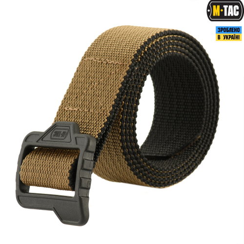 M-TAC РЕМЕНЬ DOUBLE SIDED LITE TACTICAL BELT COYOTE/BLACK