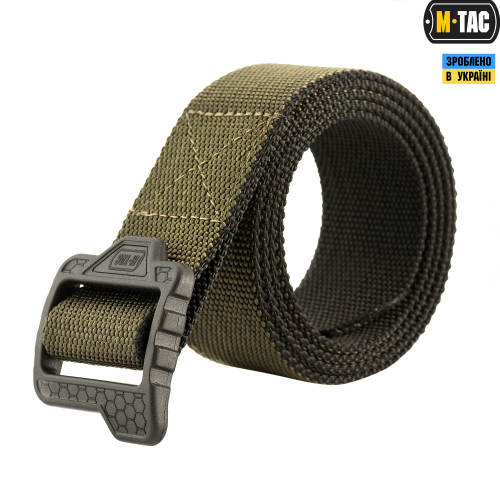 M-TAC РЕМЕНЬ DOUBLE SIDED LITE TACTICAL BELT HEX OLIVE/BLACK