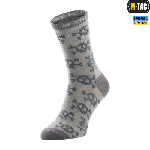 M-TAC НОСКИ ЛЕГКИЕ MK.3 PIRATE SKULL LIGHT GREY