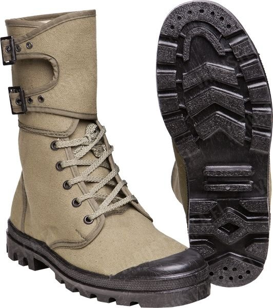 МИЛТЕК КЕДЫ ФРАНЦУЗСКИЕ FRENCH COMMANDO BOOTS WITH BUCKIES OLIVE 12830000