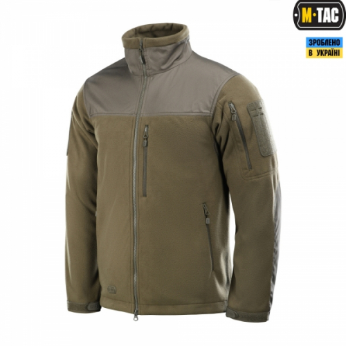 M-TAC КУРТКА ALPHA WINDBLOCK FLEECE DARK OLIVE