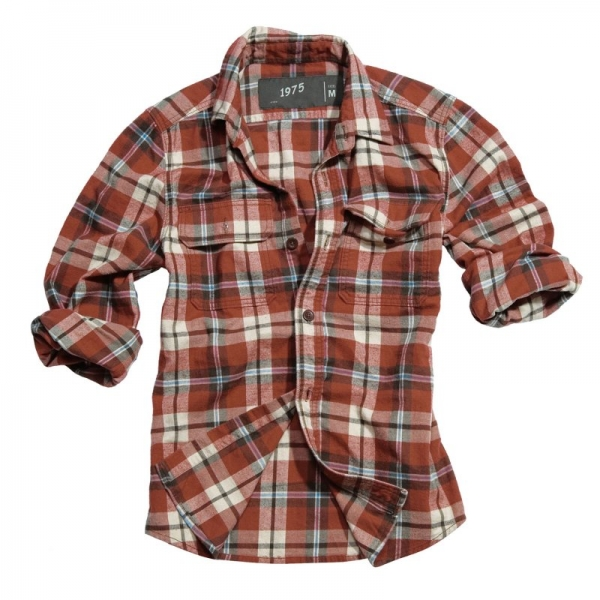 SURPLUS РУБАШКА WOODCUTTER SHIRT RED 06-5004-07