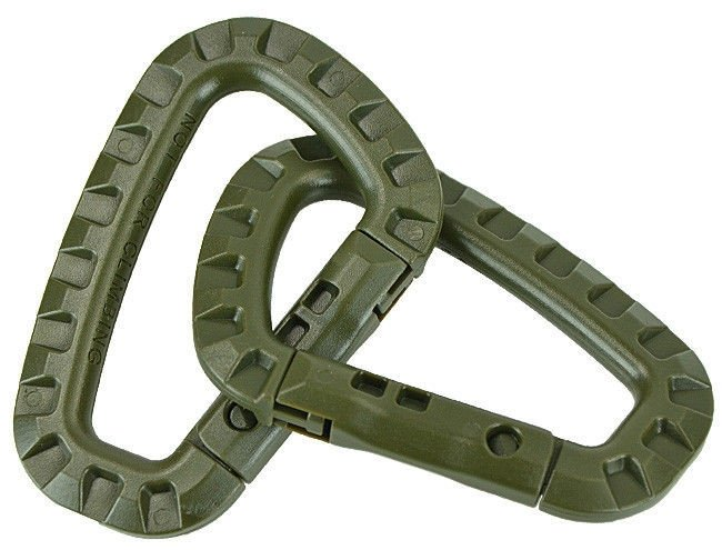МИЛТЕК КАРАБИН ABS PLASTIC CARABINER 2PCS OLIVE 15921001